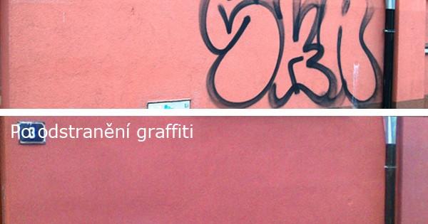 Odstraňování graffiti z fasády Praha