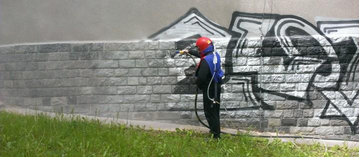 Odstranění graffiti pískováním Praha